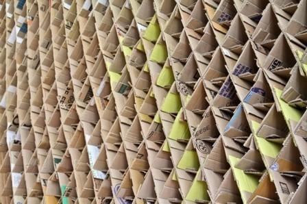 Estudiantes de la Universidad de Newcastle construyen un café temporal con estructuras de cartón reciclado | ...récup | Scoop.it