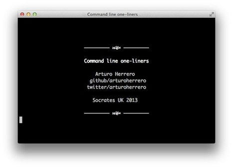 Command line one-liners | Arturo Herrero | A better work | Scoop.it