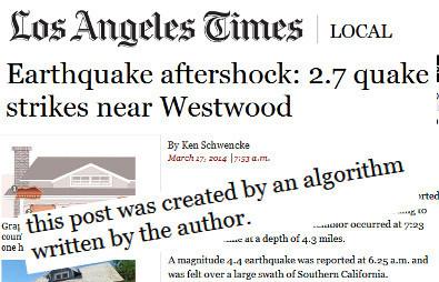 Des algorithmes travaillent pour le «LA Times»   DocPresseESJ   Scoop.it