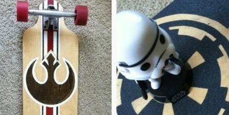 Handcrafted Star Wars vintage longboard | Longboard | Scoop.it