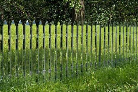 These Mirrored Fences Camouflage Themselves According To The Seasons | 1001 Creative ideas ! | Scoop.it