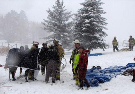Crews rescue horse from frozen pond - Denver Post | western saddles | Scoop.it