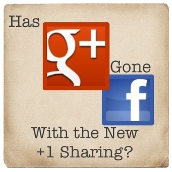 Has Google+ Gone Facebook With the New +1 Sharing? | SEO, SMM | Scoop.it