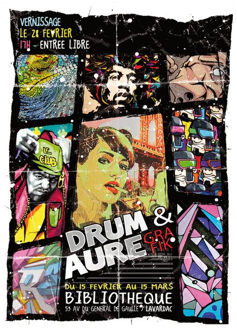 Fred Drum et Aurégrafik (Exposition art urbain) / Lavardac (Bibliothèque Municipale) / Exposition / Sortir 47 | BD47 | Scoop.it