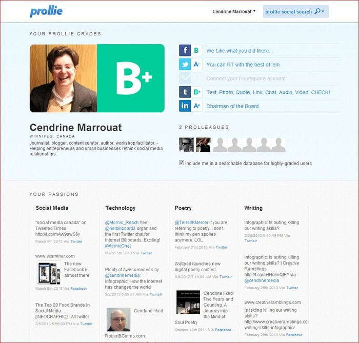 New influence measuring tool: Prollie | Business in a Social Media World | Scoop.it