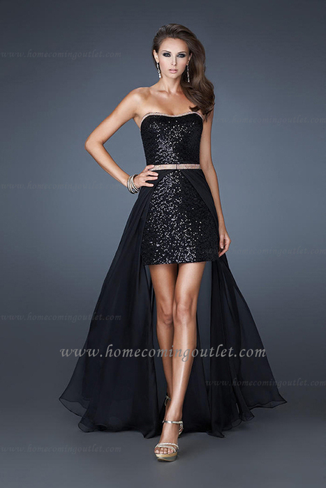 Black La Femme 18872 High Low Strapless Sweetheart Sequin Homecoming Dresses [La Femme 18872] - $183.00 : Prom and Homecoming Dress Online Shop Shows Various of Dresses for Anybody   BCBG & Herve Leger   Scoop.it