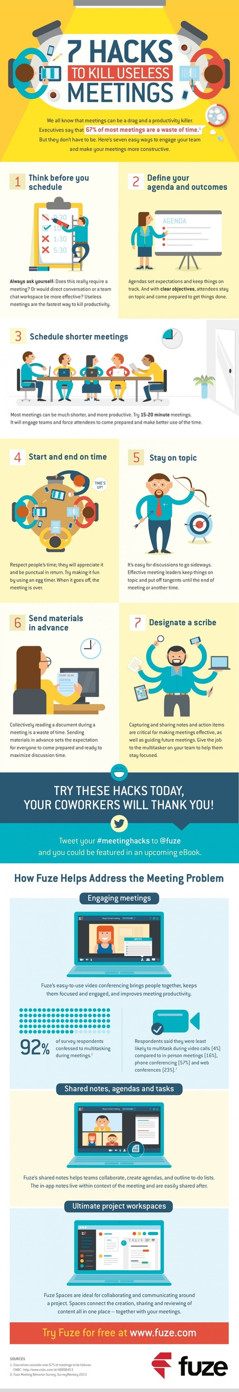 7 Hacks to Kill Useless Meetings - Infographic | Zentrum für multimediales Lehren und Lernen (LLZ) | Scoop.it