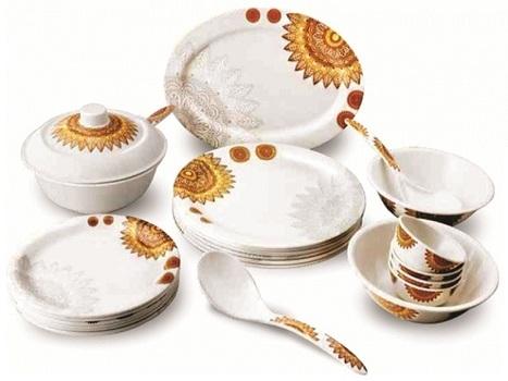 Saffron Melamine Dinner Set Manufacturer in Delhi, India | Home Appliances Traders | Scoop.it