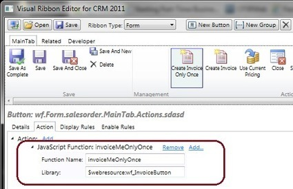 Injecting Your Own Logic Into Native CRM Ribbon Buttons | Dynamics CRM | Scoop.it