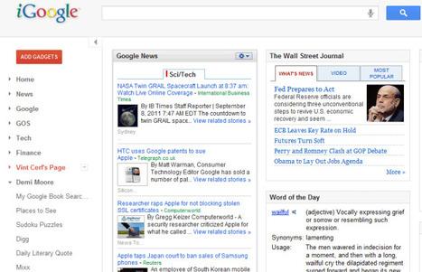 iGoogle's New Interface | Google Sphere | Scoop.it