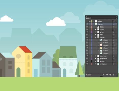 Create a cityscape in Adobe Illustrator | Veerle's blog 3.0 | Illustrator ressources | Scoop.it