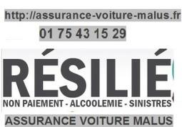 Des formules d'Assurance Voiture Malus pour les particuliers résiliés pour non paiement, Alcoolémie, trop de sinistres | assurance-voiture-malus.fr | Scoop.it