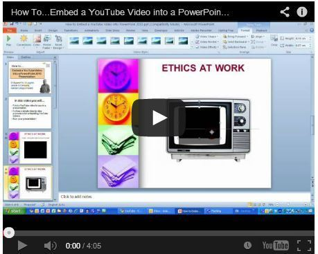 How to Insert Video into PowerPoint - Embed Video | Design Better PowerPoint Presentations | Scoop.it