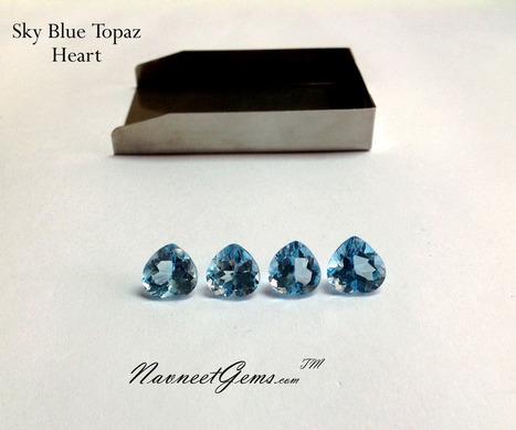 AAA Sky Blue Topaz Gemstones, Loose Sky Blue Topaz, Caliberated Blue Topaz at Wholesale | NavneetGems.com | Blue Topaz | Scoop.it