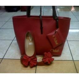 paket tas chloe pouch + flat shoes bunga mekar - AyeshaShop.Com | trend fashion 2013 | Scoop.it