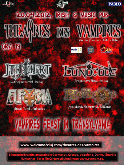 Vampires Feast in Transylvania: Theatres des Vampires, Cluj-Napoca, Irish & Music Pub ~ Cumpara bilete | Diverse Eireann- Sports culture and travel | Scoop.it
