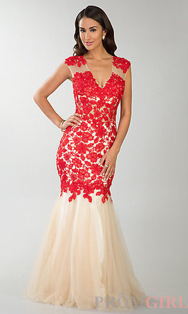 Floor Length Sleeveless Lace Dress | Prom & Formal | Scoop.it