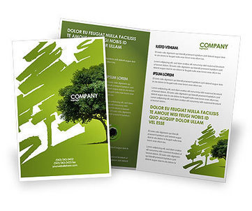 Green Tree On Light Olive Background Brochure Template | Brochure Templates | Scoop.it