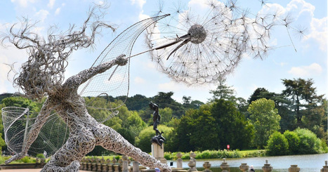 Dramatic Stainless Steel Wire Fairies by Robin Wight   Freelance Tips   Scoop.it