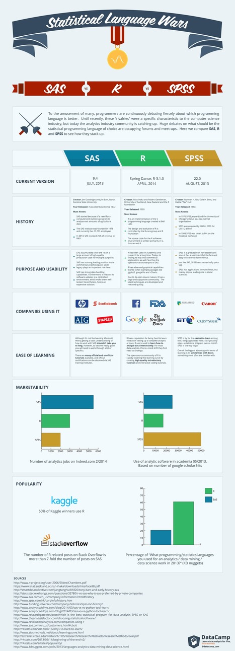 Statistical Language Wars: The Infograph | DataCamp Blog | EEDSP | Scoop.it