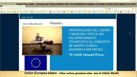 ANTROPOLOGÍA MÉDICA: EUTANASIA, MUERTE ASISTIDA Y RESURRECCIÓN 2.0 _ Dr. ADOLFO VÁSQUEZ ROCCA | ADOLFO VÁSQUEZ ROCCA | Scoop.it