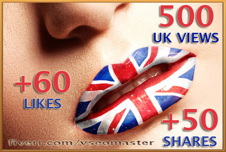 send 500 UK YouTube views 60 Likes and 50 Shares - fiverr | Youtube views | Scoop.it