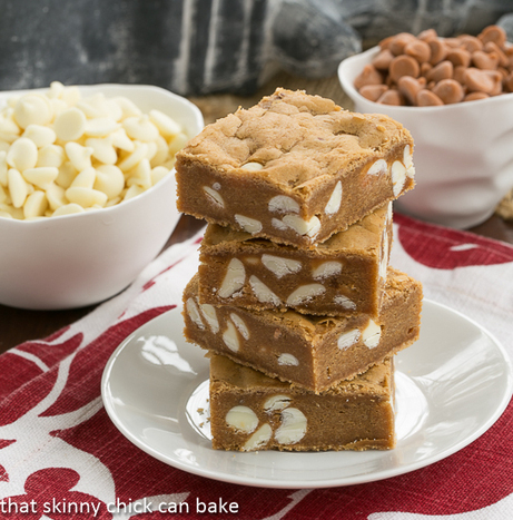 Butterscotch Blondies with White Chocolate Chips #TwoSweetiePies | Food | Scoop.it