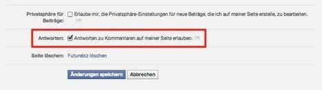 Futurebiz - Facebook Seiten: Kommentar-Threads können ab sofort aktiviert werden | Social Media Consulting | Scoop.it
