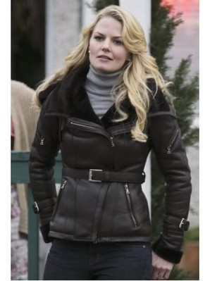 Once Upon A Time Leather Jacket | Emma Swan Black Jacket | Women's Jackets | Scoop.it