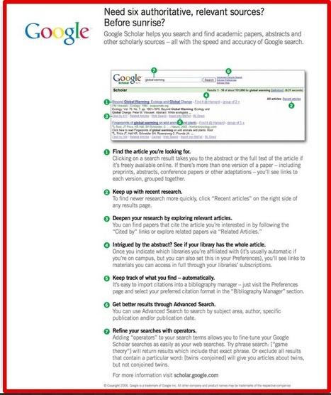7 Tips to Effectively Use Google Scholar ~ Educational Technology and Mobile Learning | IKTak hezkuntzan | Scoop.it