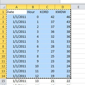 Copying Data from Excel to