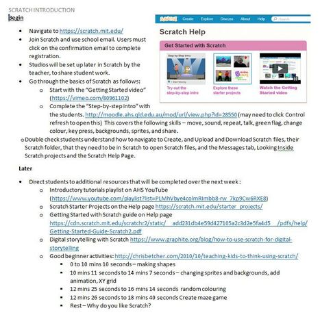 Getting started with Scratch - AHS Makerspace - Anne Weaver | Web 2.0 for Education | Scoop.it