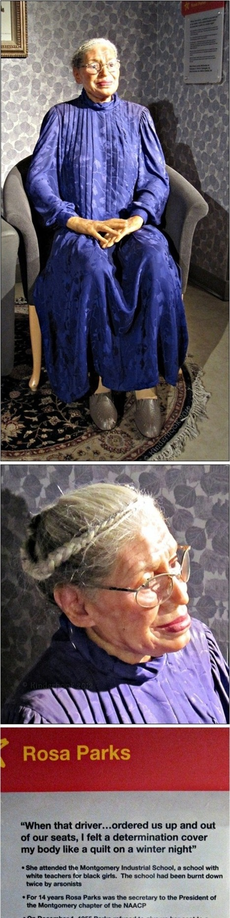 Rosa Parks at Mme. Tussauds | Project on Civil Right and Historical Land Marks | Scoop.it