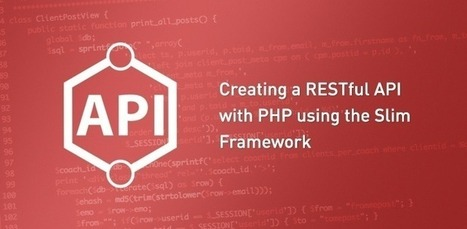 Creating a RESTful API with PHP using Slim - Web Design   Next Web App   Scoop.it