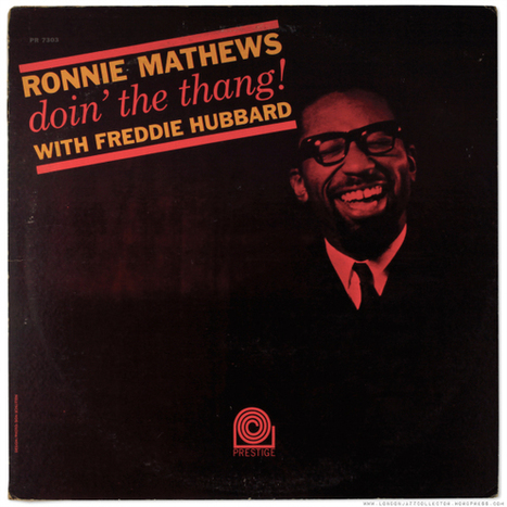 Ronnie Mathews: doin' the thang! (1964) Prestige | Jazz Plus | Scoop.it