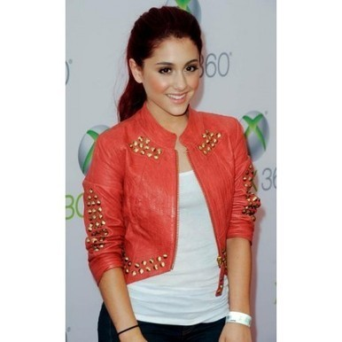 Ariana Grande Red Jacket at World Premiere of Project Natal | Film Star Jackets | Scoop.it