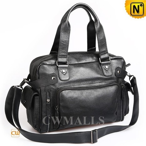 CWMALLS® Mens Leather Satchel Carryall Totes CW915132   Mens Business Bags   Scoop.it