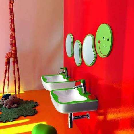Decoración: baños infantiles, pura alegría y color | Temas de interés general | Scoop.it
