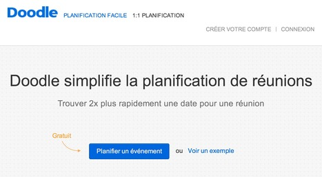 [Web] Simplifier la plannification de réunions - Doodle | [Franck Confino] Digital tools | Scoop.it