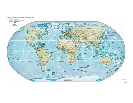 Mapa físico del mundo (lib.utexas.edu) - Didactalia: material educativo | Recull diari | Scoop.it