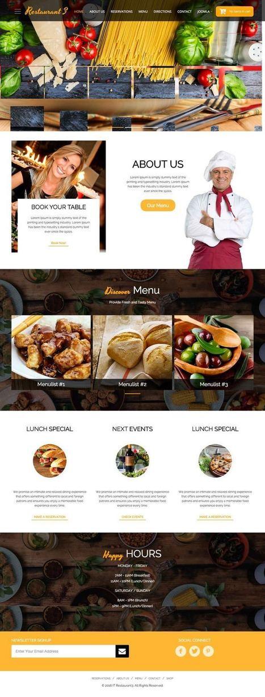 IT Restaurant 3 Joomla Bistro + e-Commerce Template | Premium Joomla Templates | Scoop.it