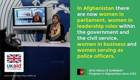 "DFID on Twitter: ""How has UK aid made a difference in Afghanistan? It's helped more women to take a leading role #NatoSummitUK http://t.co/TPsQZgSBZK"" 