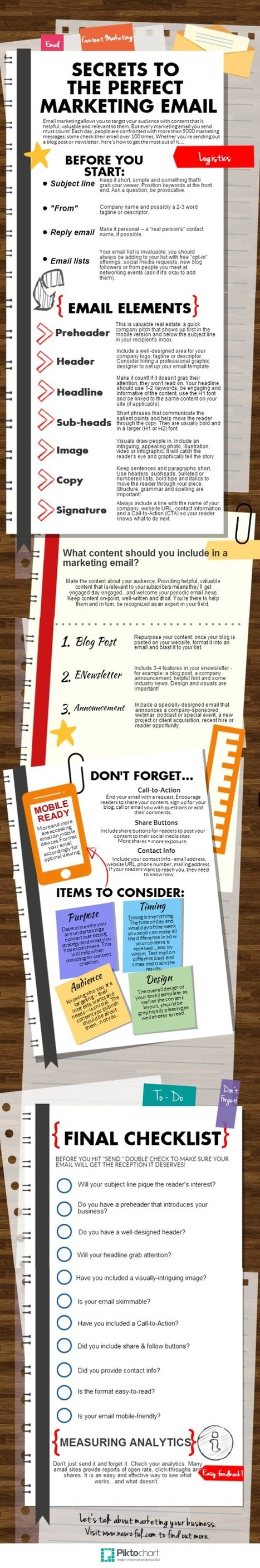 Secrets to the Perfect Marketing Email #infographic | MarketingHits | Scoop.it