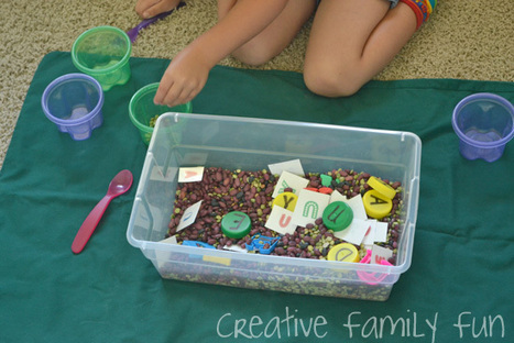 Name Recognition Sensory Bin ~ Creative Family Fun | Learn through Play - pre-K | Scoop.it