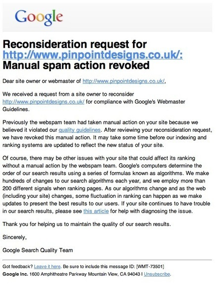 Lifting A Manual Penalty Given By Google (Personal Experience) | Social Media, SEO, Mobile, Digital Marketing | Scoop.it
