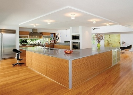 Stunning Large Modern Kitchen With l Shaped Island And Nice Ceiling Lights   Rhinway- home design   Scoop.it