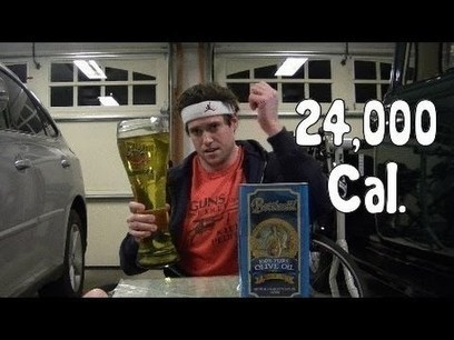 WTF! The LA Beast Consumes A 3 Liter Tin Of Olive Oil In 3 Minutes. That's 24000 Calories And 2800 Grams Of Fat In 3 Minutes! | HotHotter | Scoop.it