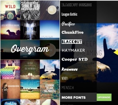 Overgram: A Great App to Add Beautiful Text Captions in Photos | On education | Scoop.it