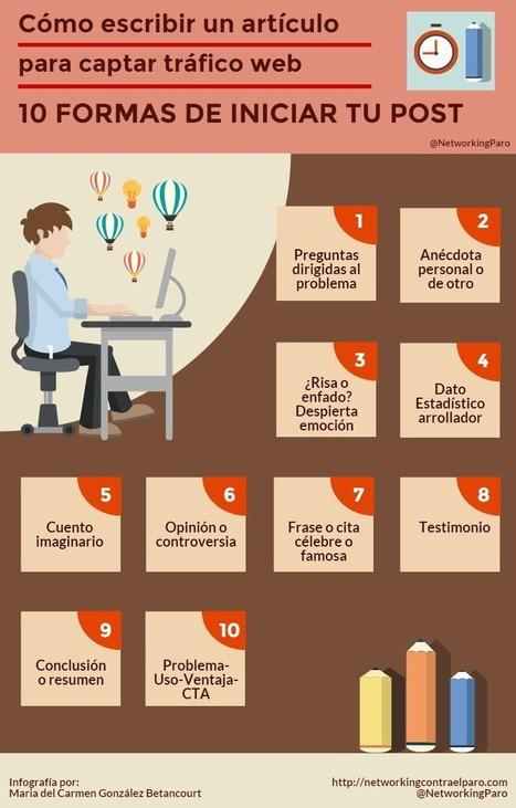 Cómo escribir un artículo para retener tráfico web: 10 inicios - Networking contra el Paro | Social Media | Scoop.it
