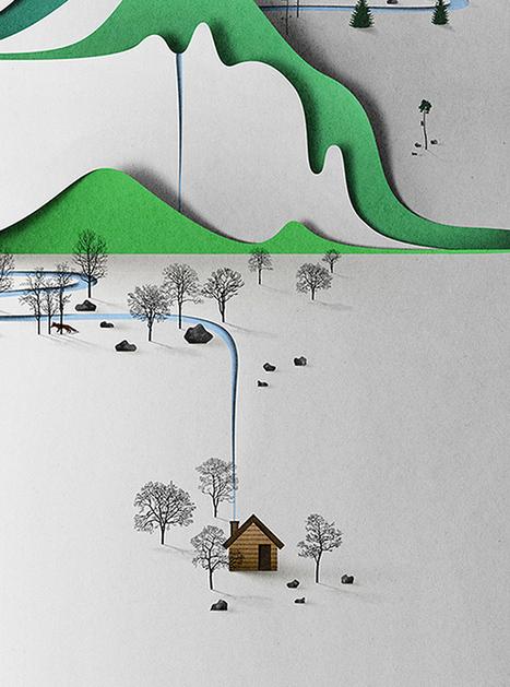 Papercut Illustrations by Eiko Ojala   Dessin   Scoop.it